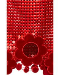 Christopher Kane | Red Daisy Chain Mail Top | Lyst