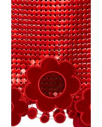 Christopher Kane - Red Daisy Chain Mail Top - Lyst