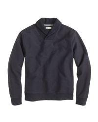 J.Crew - Black Twill Knit Shawl Collar Pullover for Men - Lyst