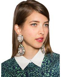 Pixie Market - Pink Irene Gem Drop Statement Earrings - Lyst