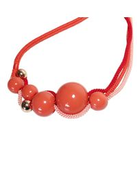 Marion Vidal | Red Silk Cord Ceramic Necklace | Lyst