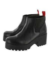 Marta Jonsson - Black Suede Ankle Boot - Lyst