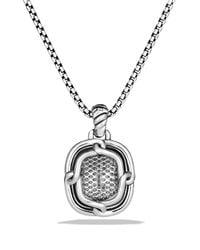 David Yurman | Metallic Labyrinth Medium Pendant With Diamonds | Lyst