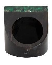 Marni | Green Pyrite Resin Ring | Lyst