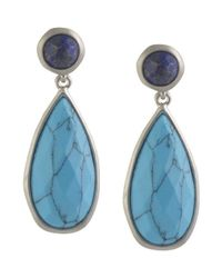 Karen Kane | Blue Urban Jungle Drop Earrings | Lyst