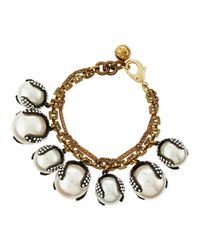 Lulu Frost | White Decade Simulated Pearl Bracelet | Lyst