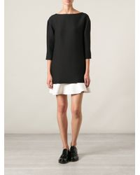 Valentino - Black Shift Dress - Lyst