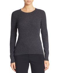 Lord & Taylor | Gray Cashmere Crewneck Sweater | Lyst