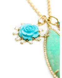 Irene Neuwirth | Metallic 18kt Gold And Mint Chrysoprase Pendant Necklace | Lyst