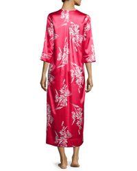 Oscar de la Renta - Pink Spanish Lily Printed V-neck Caftan - Lyst