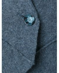 Stella McCartney - Blue Stitching-Detail Blazer - Lyst