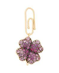 Aurelie Bidermann - Purple Four-leaf Clover Charm - Lyst