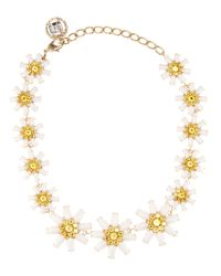 Dolce & Gabbana - Metallic Crystal-embellished Necklace - Lyst