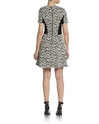 W118 by Walter Baker Black Vince Chevron-Print Dress