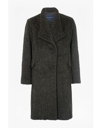 French Connection | Gray Tyler Wrap-over Oversized Wool Coat | Lyst