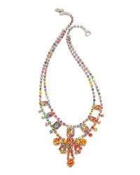 Tom Binns - Multicolor A Riot Of Color Splash Necklace Multi - Lyst