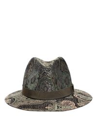 Etro | Green Paisley Printed Wool Blended Hat | Lyst