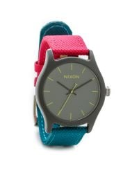 Nixon - Multicolor Mod Acetate Watch - Charcoal/Pink/Teal - Lyst