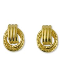 Lord & Taylor | Metallic 14k Yellow Gold Door Knocker Earrings | Lyst