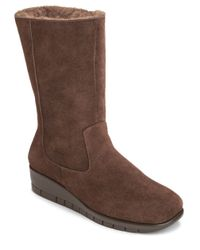 Aerosoles | Brown Plantation Suede Mid Shaft Boots | Lyst