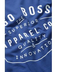 BOSS Green Blue Cotton T-shirt: 'tee 5' for men