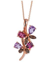 Le Vian | Multicolor Multi-stone (1-1/6 Ct. T.w.) And Chocolate Diamond Accent Pendant Necklace In 14k Rose Gold | Lyst
