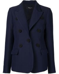 Derek Lam - Blue Button-Detail Wool-Blend Jacket - Lyst