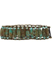 Isabel Marant - Green Pottery Beaded Bracelet - Lyst