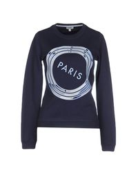 KENZO - Blue Sweatshirt for Men - Lyst