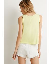 Forever 21 | Yellow Boxy Vented Tank | Lyst