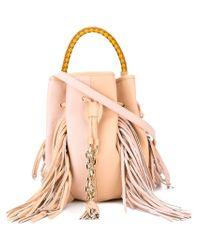 Sara Battaglia Pink Fringed 'jasmine' Crossbody Bag