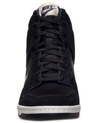 Nike - Black Women'S Dunk Sky Hi Essential Casual Sneakers From Finish Line - Lyst