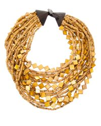 Monies | Yellow Multi Strand Necklace | Lyst