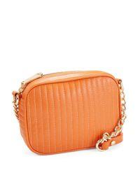 Kenneth Cole Orange Sloan Street Leather Crossbody Bag