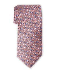 Pierre Cardin | Orange School Of Fish Silk Tie for Men | Lyst