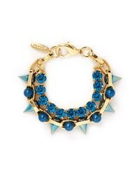 Joomi Lim | Blue 'dynamic Duo' Spike Sphere Bracelet | Lyst
