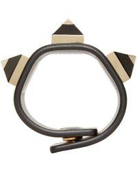 Givenchy | Black Pyramidal Stud Cuff | Lyst