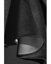 Raoul Black Crepe Peplum Gown
