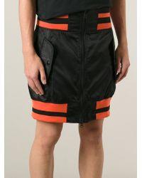 KTZ Black Zipped Up Track Skirt for men