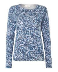 Linea Weekend | Blue Cooley Print Jumper | Lyst