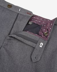 Ted Baker | Gray Herringbone Trousers for Men | Lyst