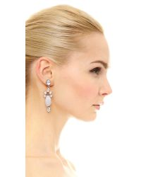 Oscar de la Renta - Metallic Crystal Resin Earrings - Lyst