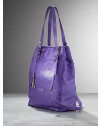 Patrizia Pepe | Purple Leather Shopper | Lyst