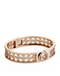 Michael Kors | Metallic Fulton Monogram Hinge Bangle | Lyst