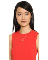 kate spade new york - Metallic Winking Emoji Pendant Necklace - Red Multi - Lyst