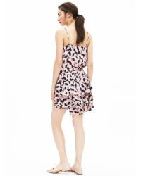 Banana Republic | Pink Print Ruffle Dress | Lyst