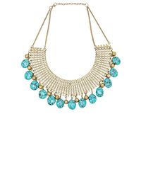 Raga | Blue Multi Stone Necklace | Lyst