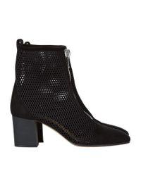 Pinko Black Mesh Ankle Boot