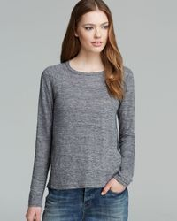 Marc By Marc Jacobs Gray Top Carmen Mixed Media