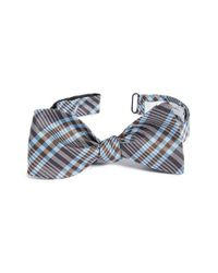 John W. Nordstrom | Blue Plaid Silk Bow Tie for Men | Lyst